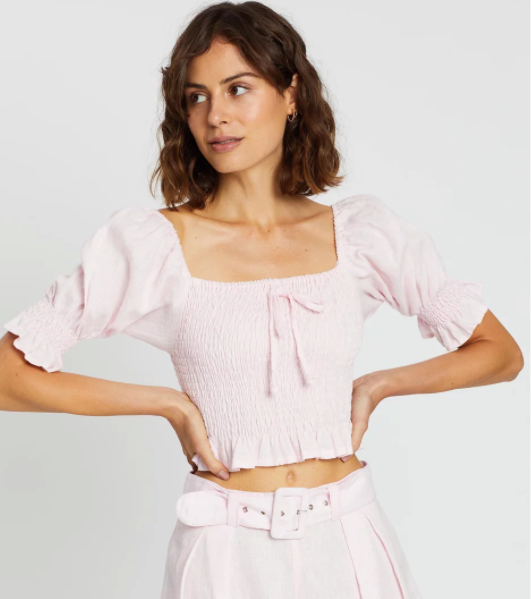 Faithfull The Brand Lenora Top - Ice Pink