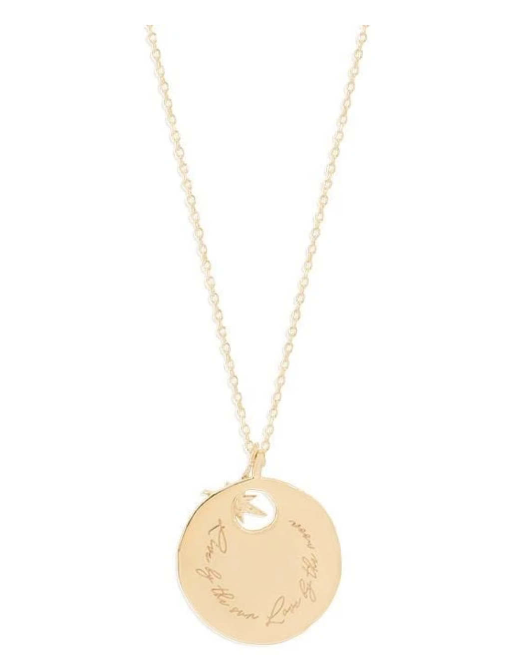 By Charlotte Gold Live and Love Necklace - Gold