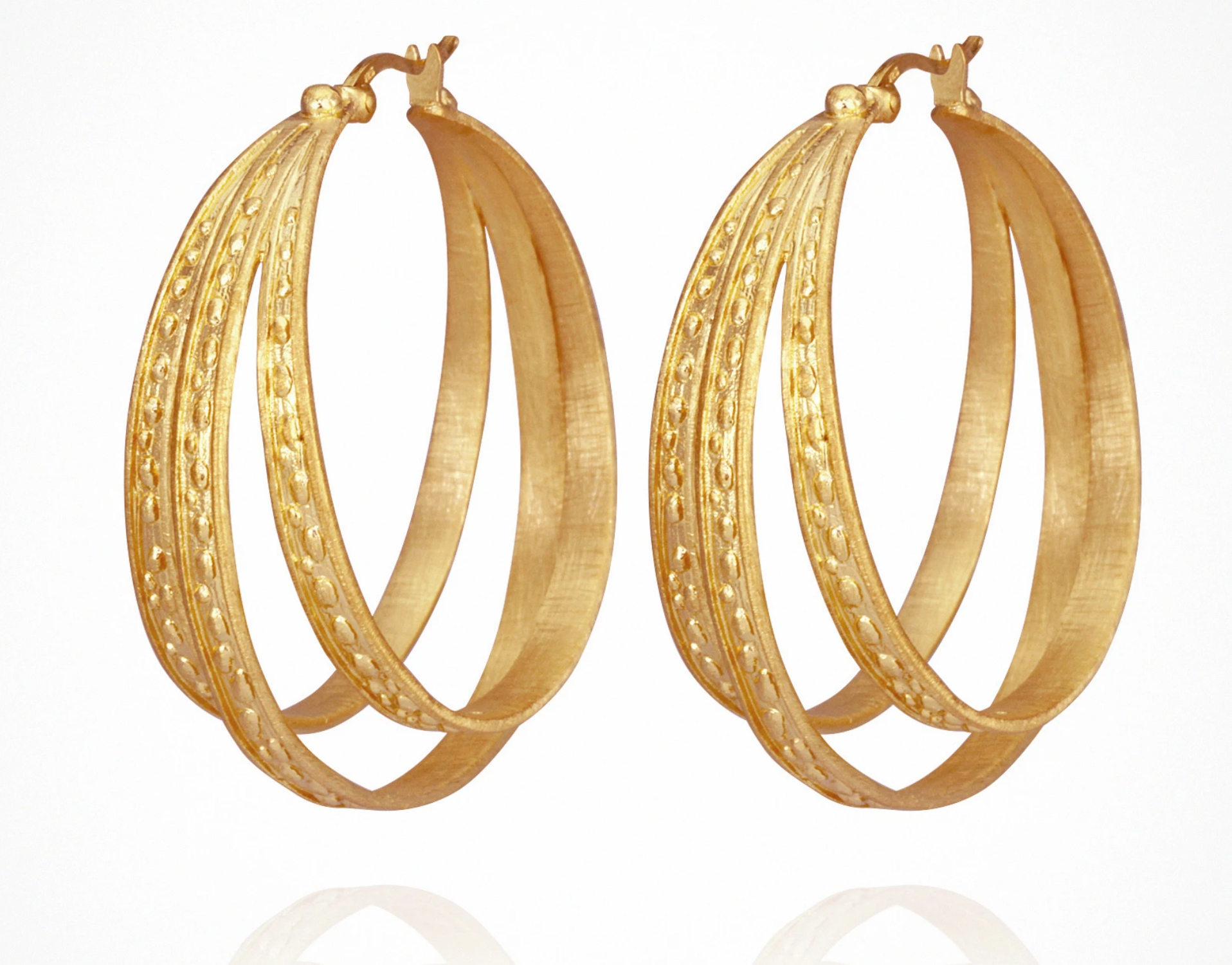 Temple Of The Sun Melina Hoops - Gold
