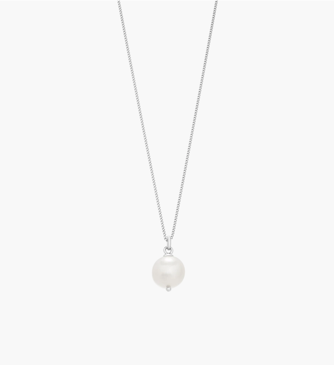 Kirstin Ash Large Freshwater Pearl Necklace - Sterling Silver