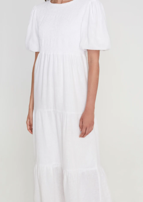 Faithfull The Brand Alberte Midi Dress - Plain White