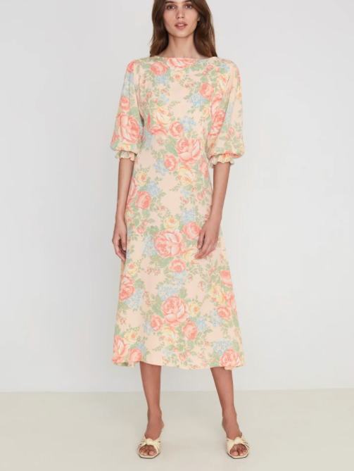 Faithfull The Brand Clement Midi Dress Nadya Floral