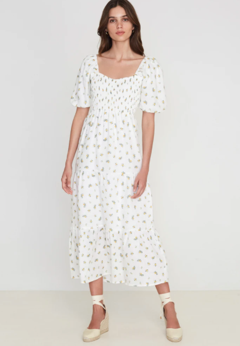 Faithfull The Brand Gianna Midi Dress - Carrie Floral Print