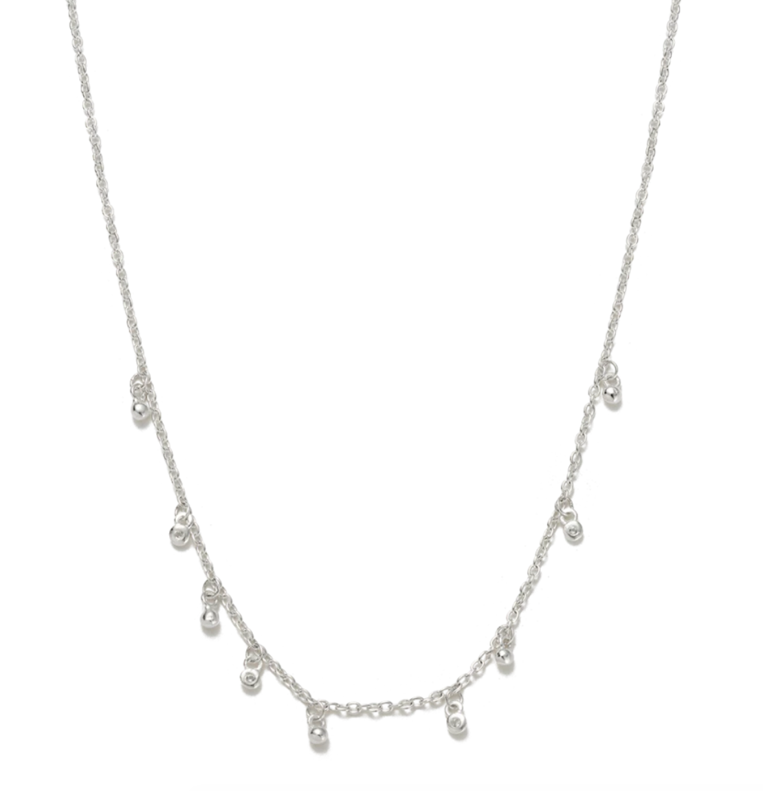 Kirstin Ash Sea Mist Necklace -Sterling Silver