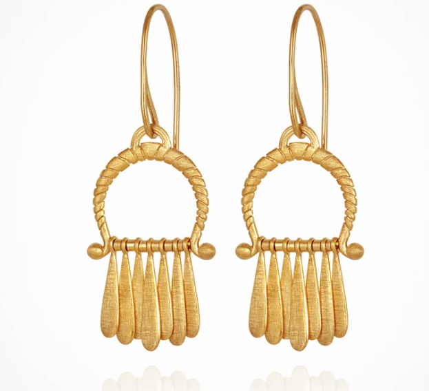 Temple Of The Sun Arc Earring - Gold