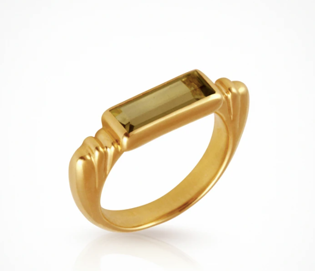 Temple Of The Sun Phoebe Ring - Gold