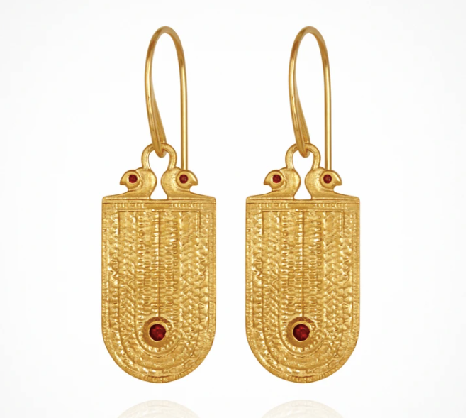 Temple Of The Sun Seth Earring - Gold