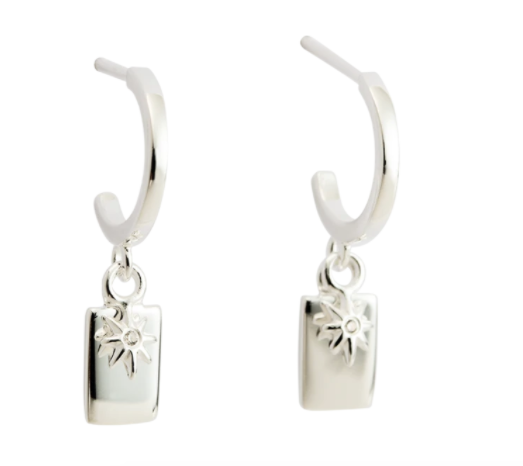 Kirstin Ash Guiding Star Hoops - Sterling Silver