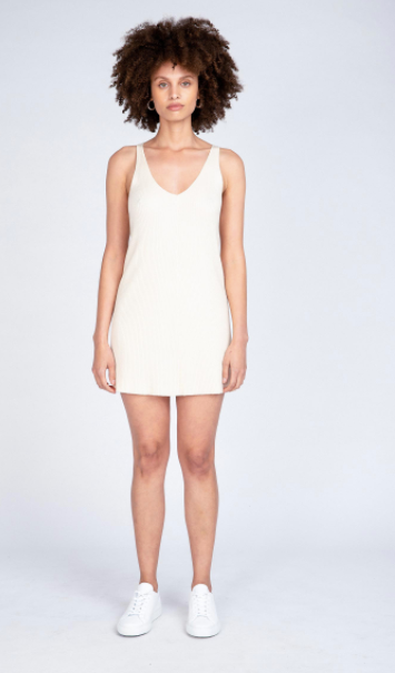 Neuw Denim Moves Knit Dress - White Sand