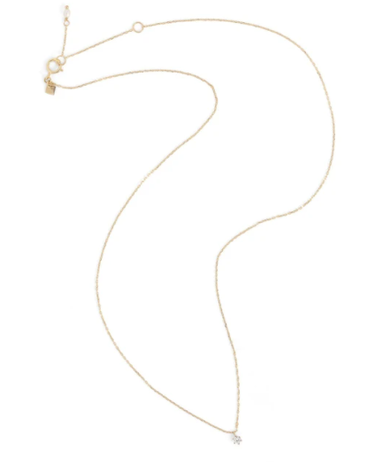 By Charlotte 14k Gold Droplet Diamond Necklace