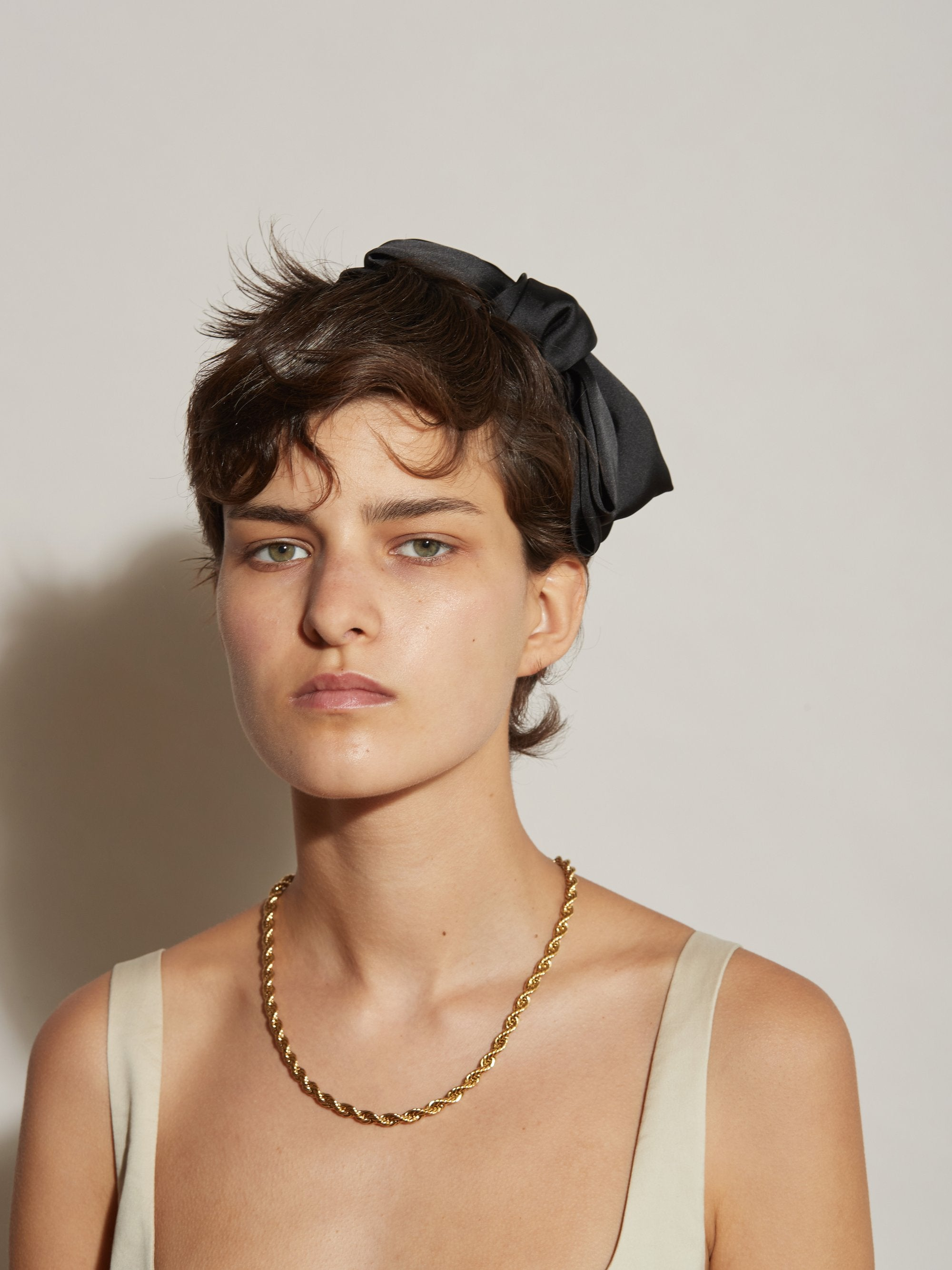 Reliquia Silk Bow headband - Black