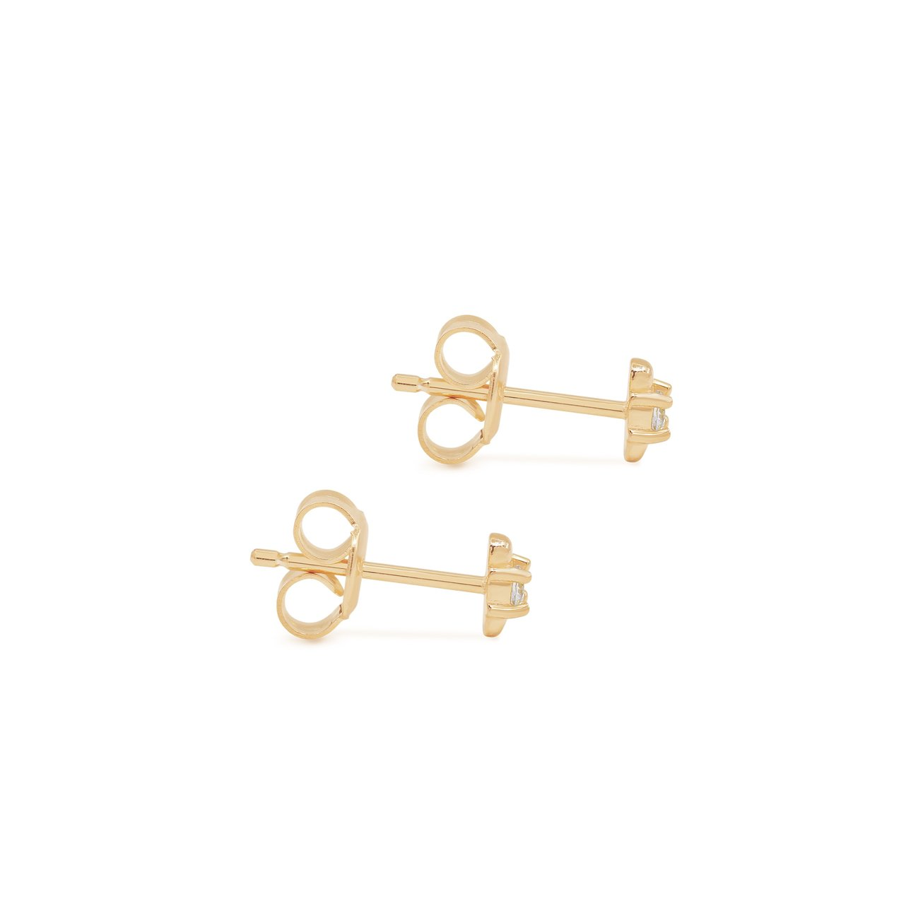 By Charlotte I am Light Stud Earrings - Gold