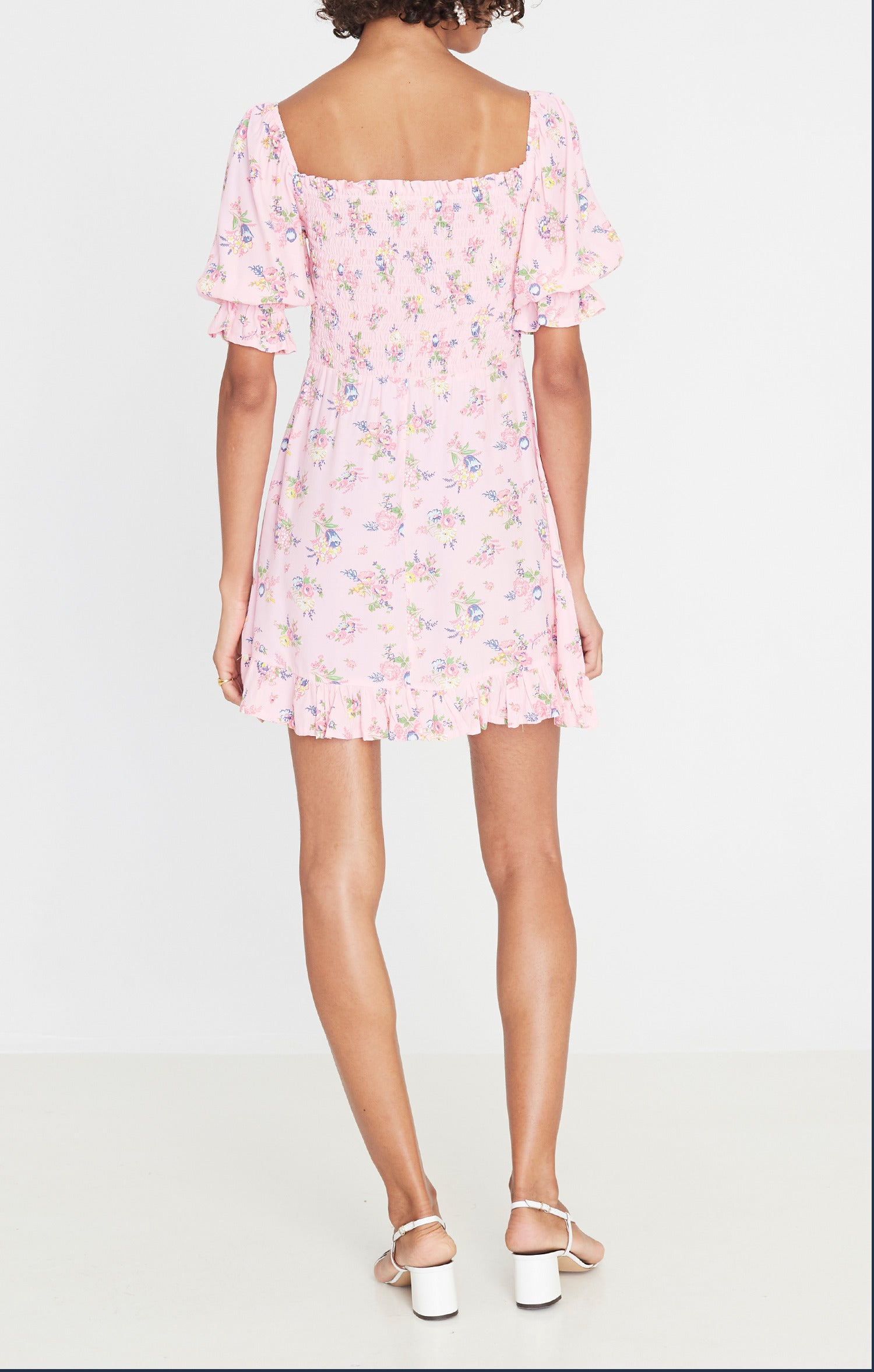 Faithfull The Brand Sage Mini Dress - Juliette Floral Print
