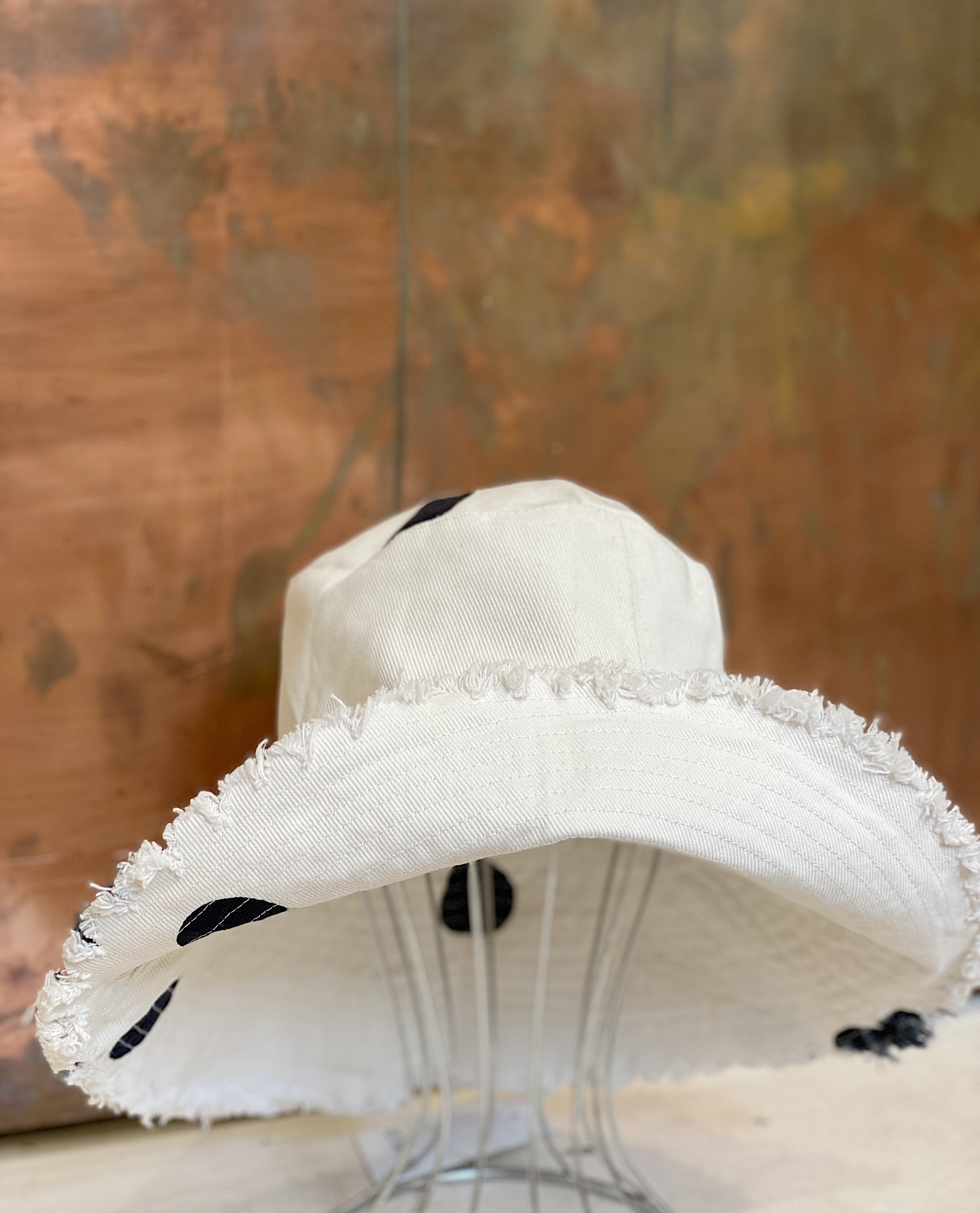 ÉSS THE LABEL Montana Hat- Cream/Black Spot