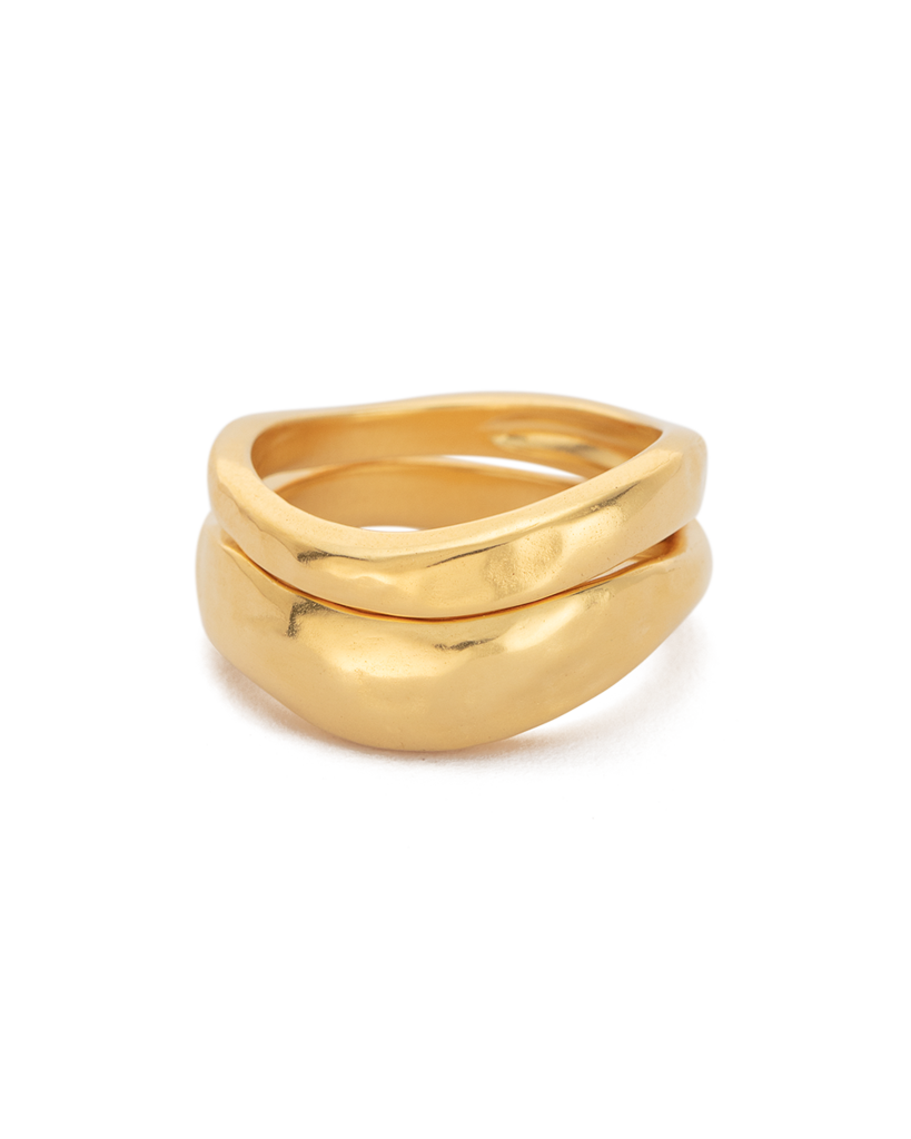 Kirstin Ash Essence Stacking Ring Set - 18k Gold Plated