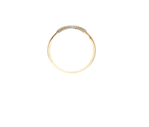 By Charlotte 9kt Gold Heavenly Crescent Ring