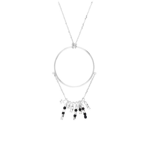 By Charlotte Silver Onyx Temple of Dreams Necklace