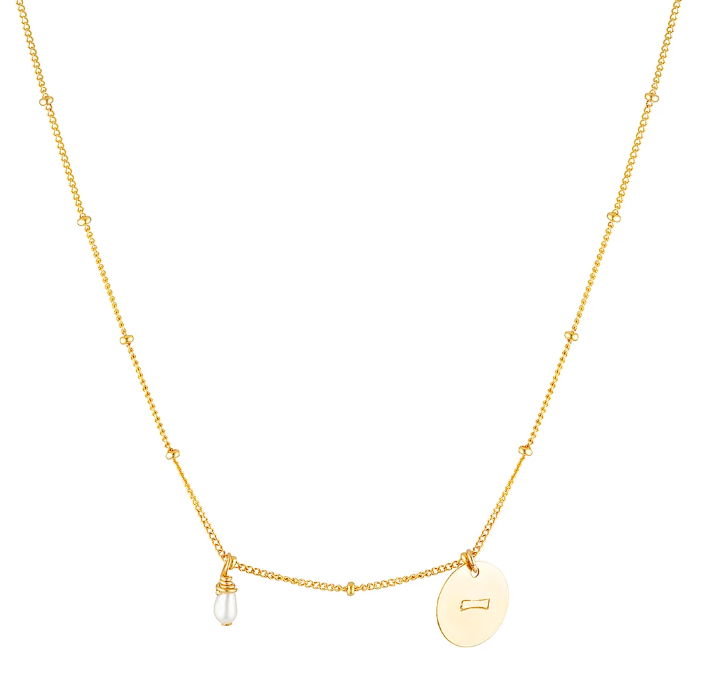 Elvis Et Moi Aquarius Necklace - Gold