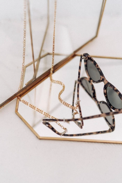 Luv Lou Link Sunglasses Chain - Gold