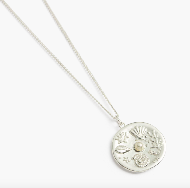 Kirstin Ash By the Sea Coin Necklace - Silver