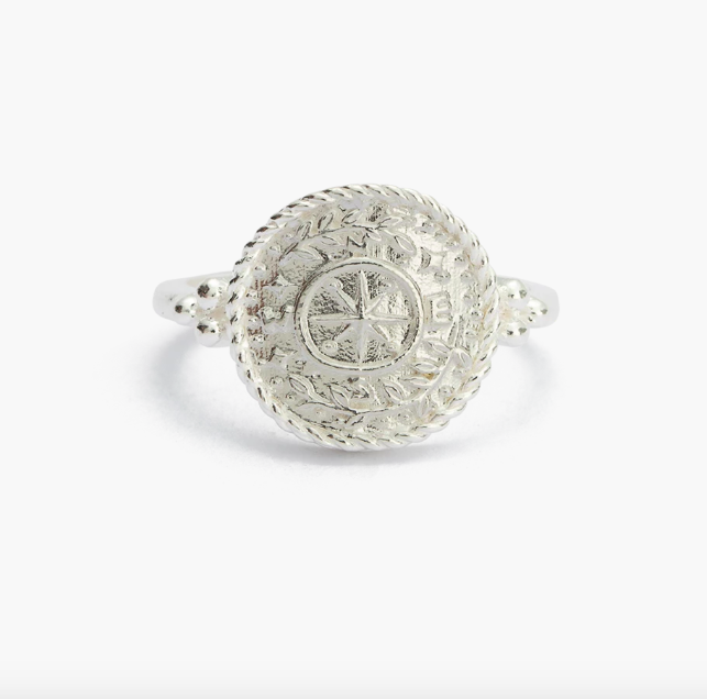 Kirstin Ash Treasure Coin Ring - Silver