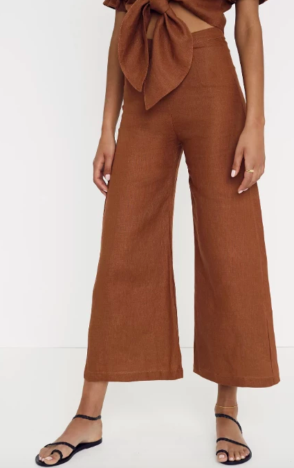 Faithfull The Brand Scelsi Pant - Chestnut