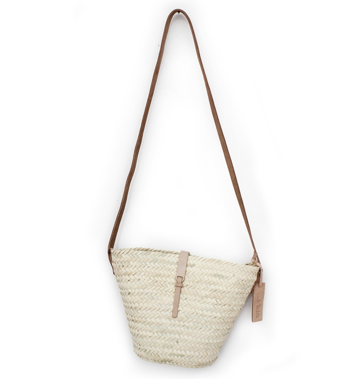 French Basket Medium Cross Body Natural