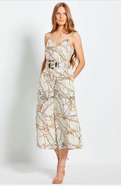 Nicholas The Label Seta Jumpsuit - Vintage Palm Ivory