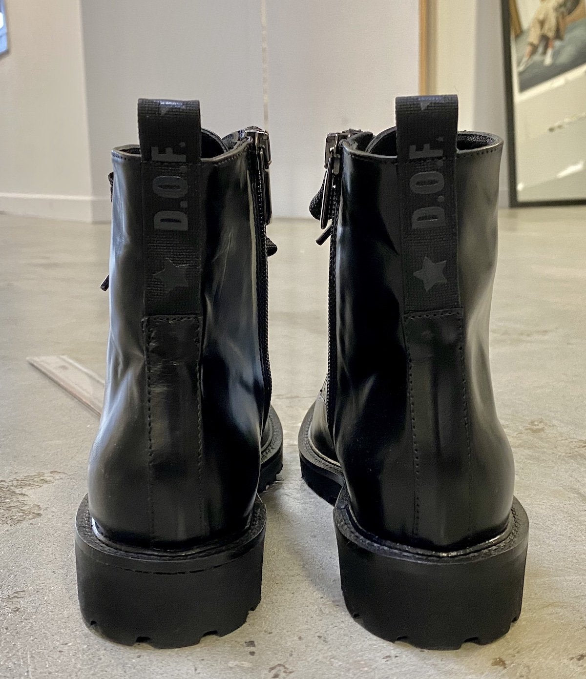 Department Of Finery Sidney Boot - Black Leather