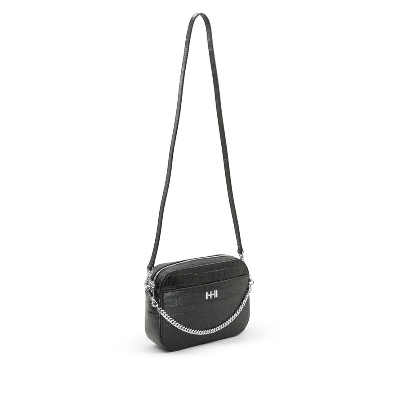 Dylan Kain The Mini Rodriguez Croc Bag - Silver