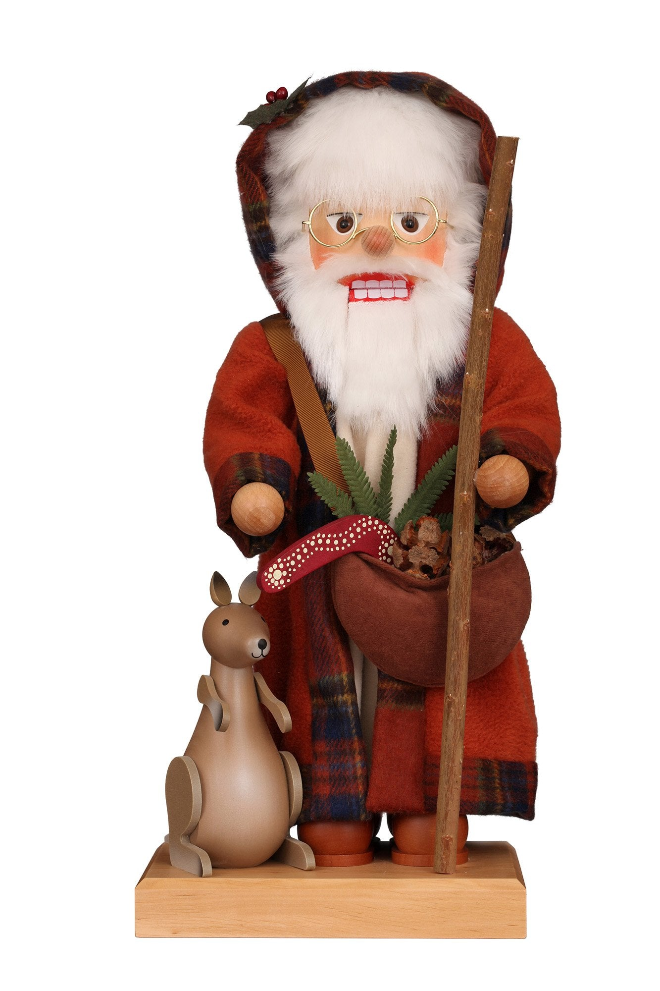 Nutcracker (Premium Collector's Edition) - Aussie Santa with Kangaroo and Boomerang