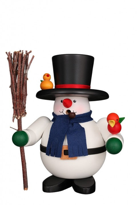 Incense Burner - Premium - Friendly Snowman with Broom