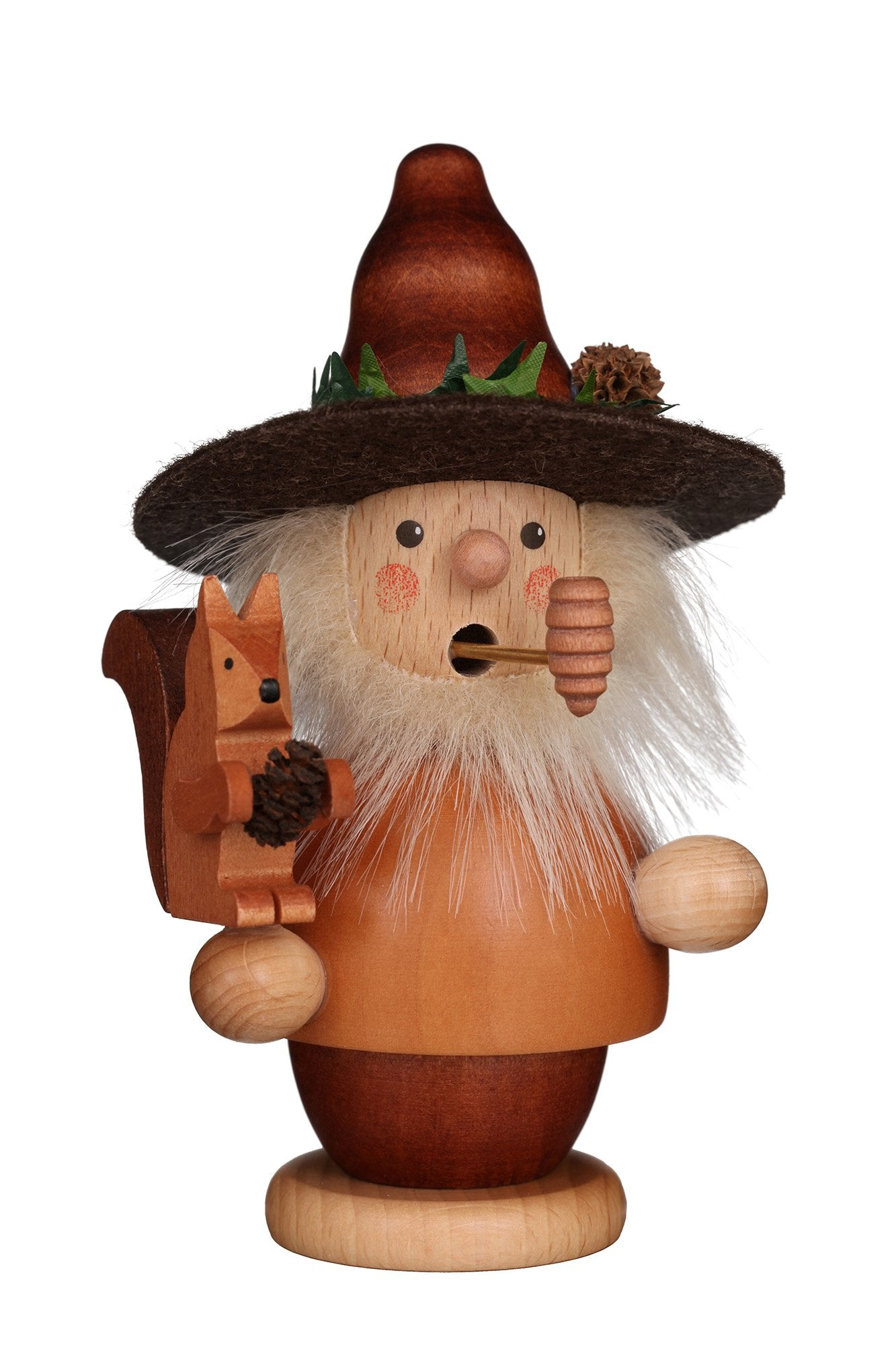 Incense Burner - Mini - Forest Man with Squirrel (Natural)