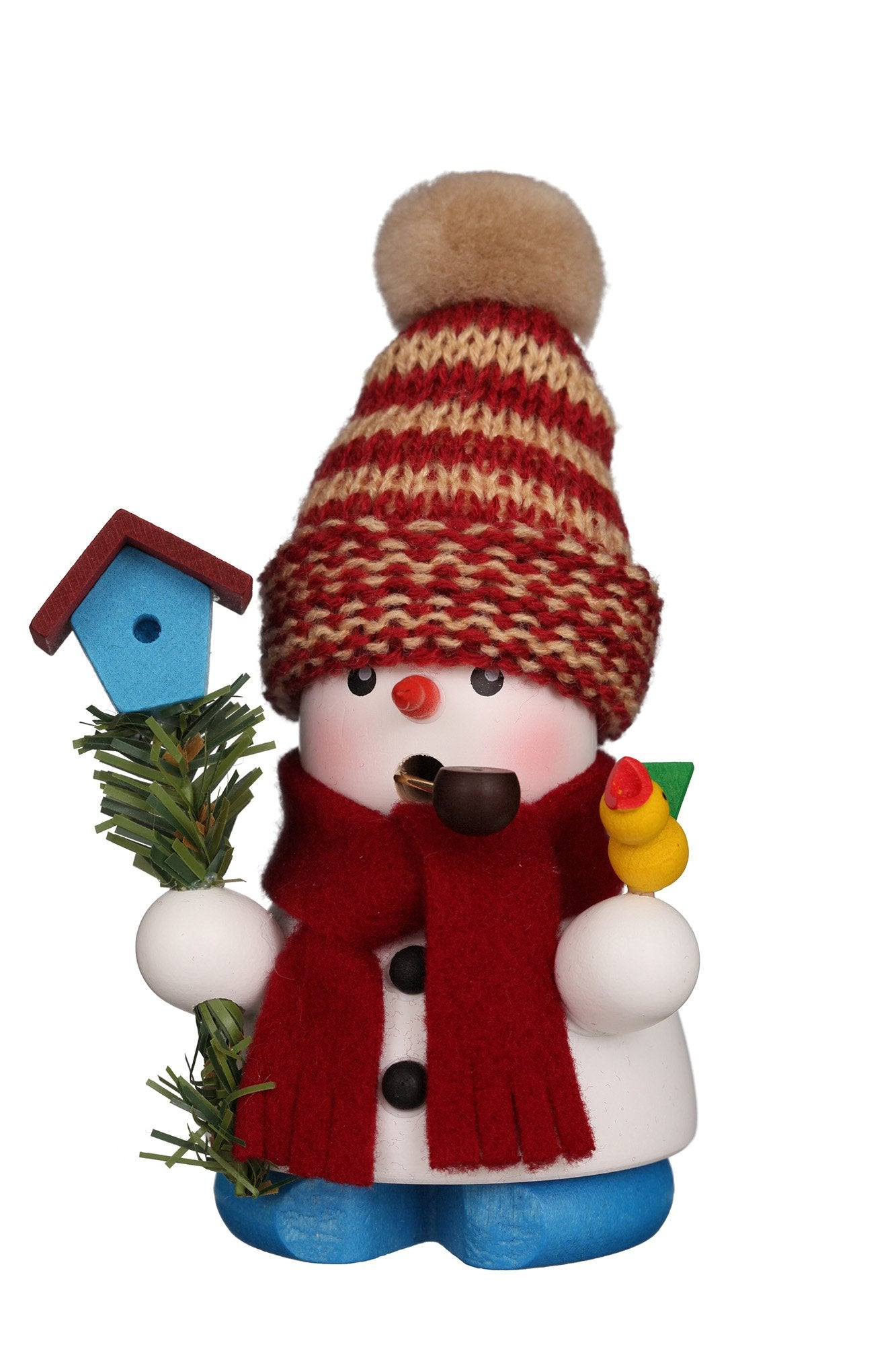Incense Burner - Mini - Snowman with Birdhouse