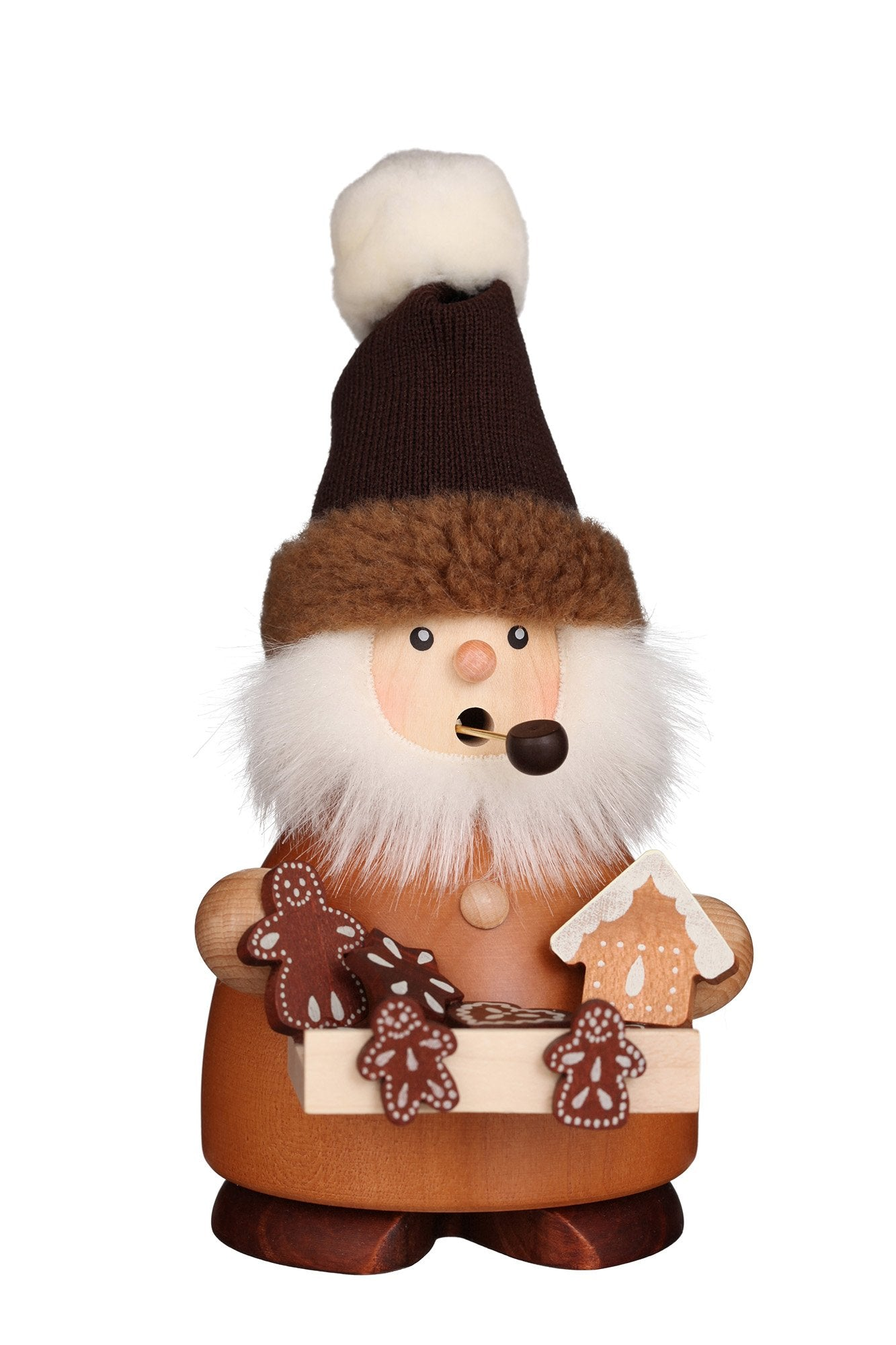 Incense Burner - Small - Gingerbread seller with furry hat