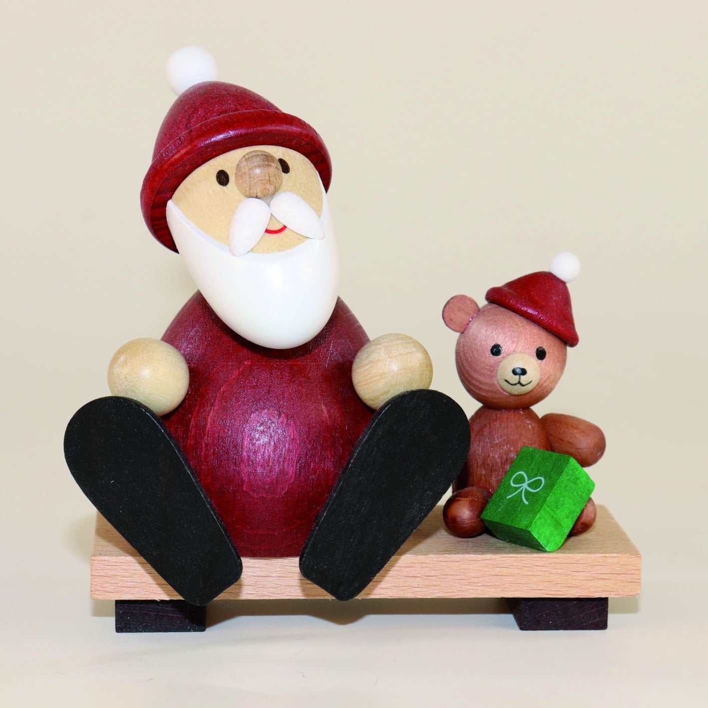 Weihnachtsmann Collectibles - Santa with Teddy Bear