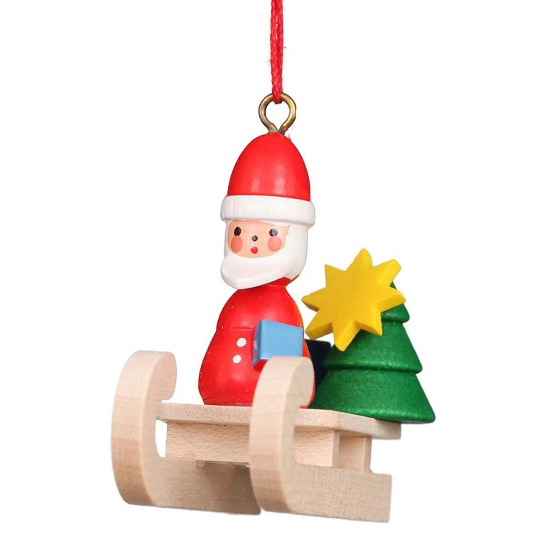 Mini sled - Santa - Christmas tree decoration