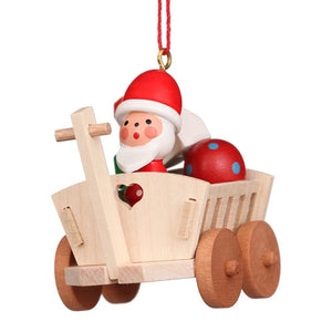Alpine Santa in wagon - Christmas tree decoration