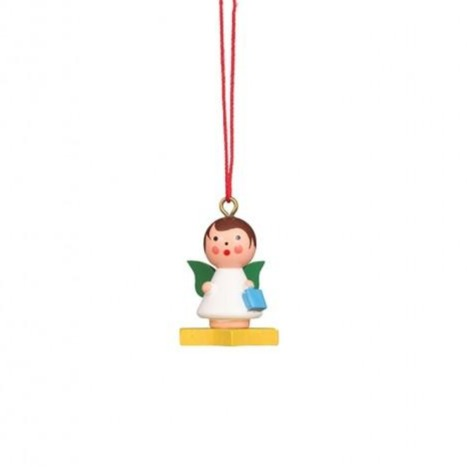 Mini angel - Floating on a Colourful Star - Christmas tree decoration