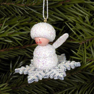 Mini angel - Snowflake surfer - Christmas tree decoration