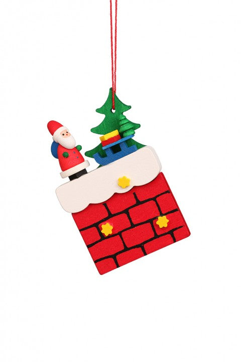 Chimney with Santa - Christmas tree decoration
