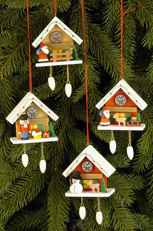 Cuckoo Clock - Nutcracker under Snow-capped Roof - Christmas tree decoration