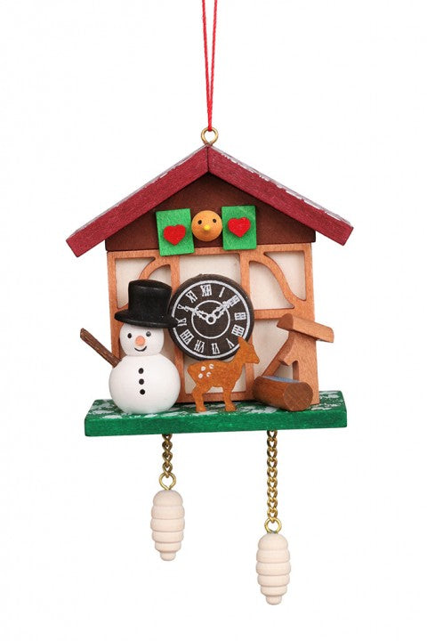 Cuckoo Clock - Snowman's Workshop - Christmas tree decoration