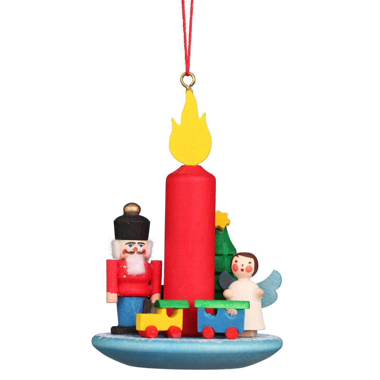 Advent Candle (Angel and Nutcracker) - Christmas Tree Decoration