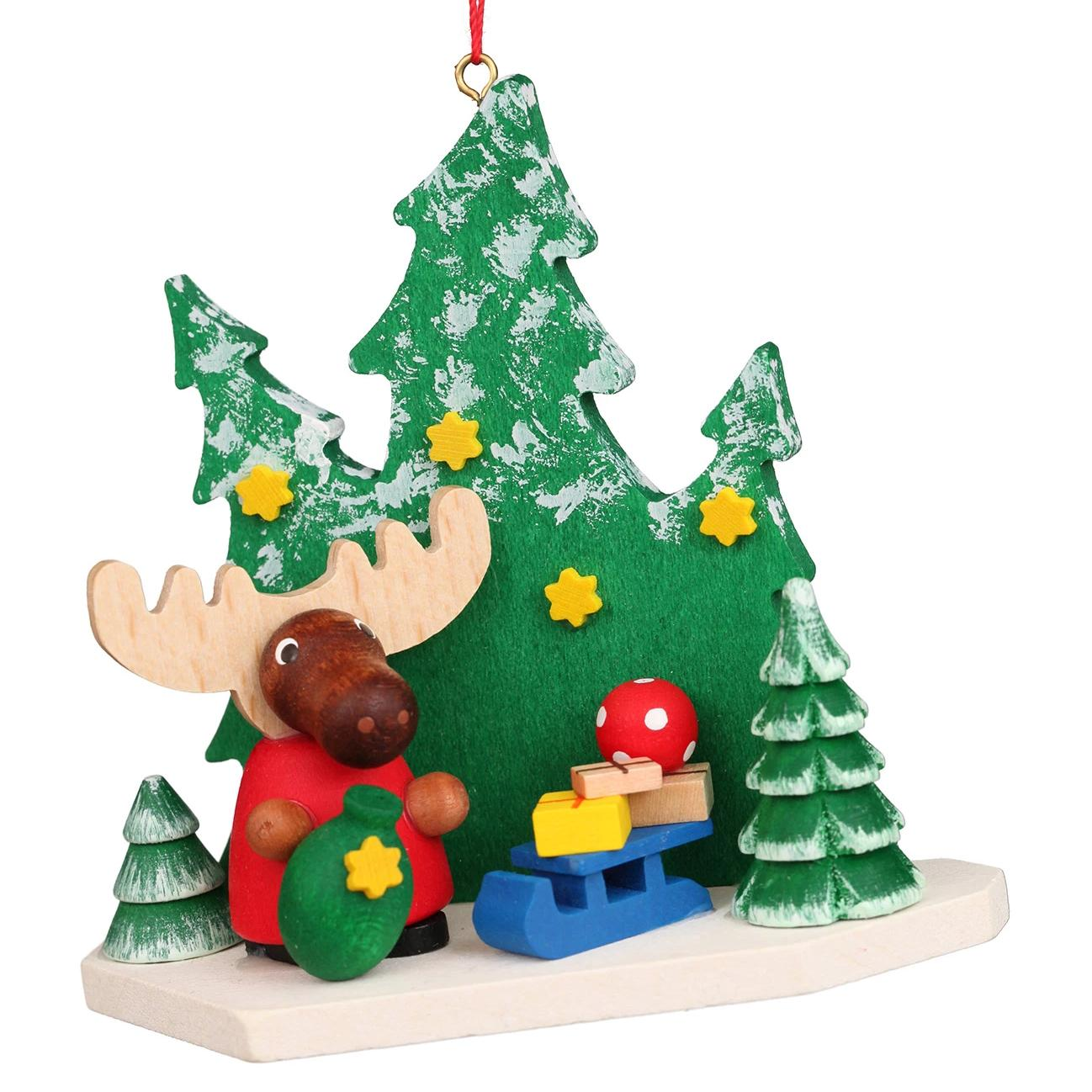Moose in Forest - Christmas tree decoration
