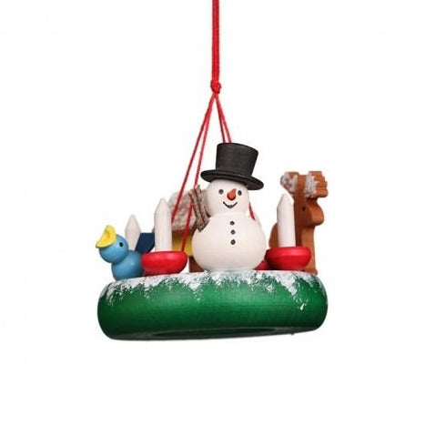 Advent Wreath (Snowman) - Christmas Tree Decoration