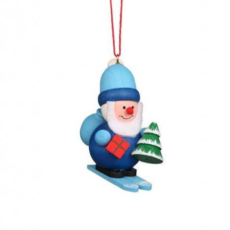 Mini Santa in Blue - Christmas Tree Decoration