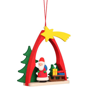 Shooting star Santa - Christmas tree decoration