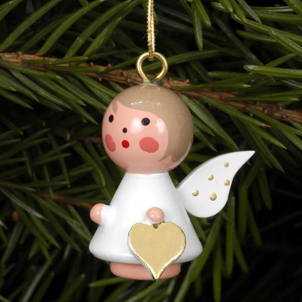 Mini angel - Golden wings - Christmas tree decoration