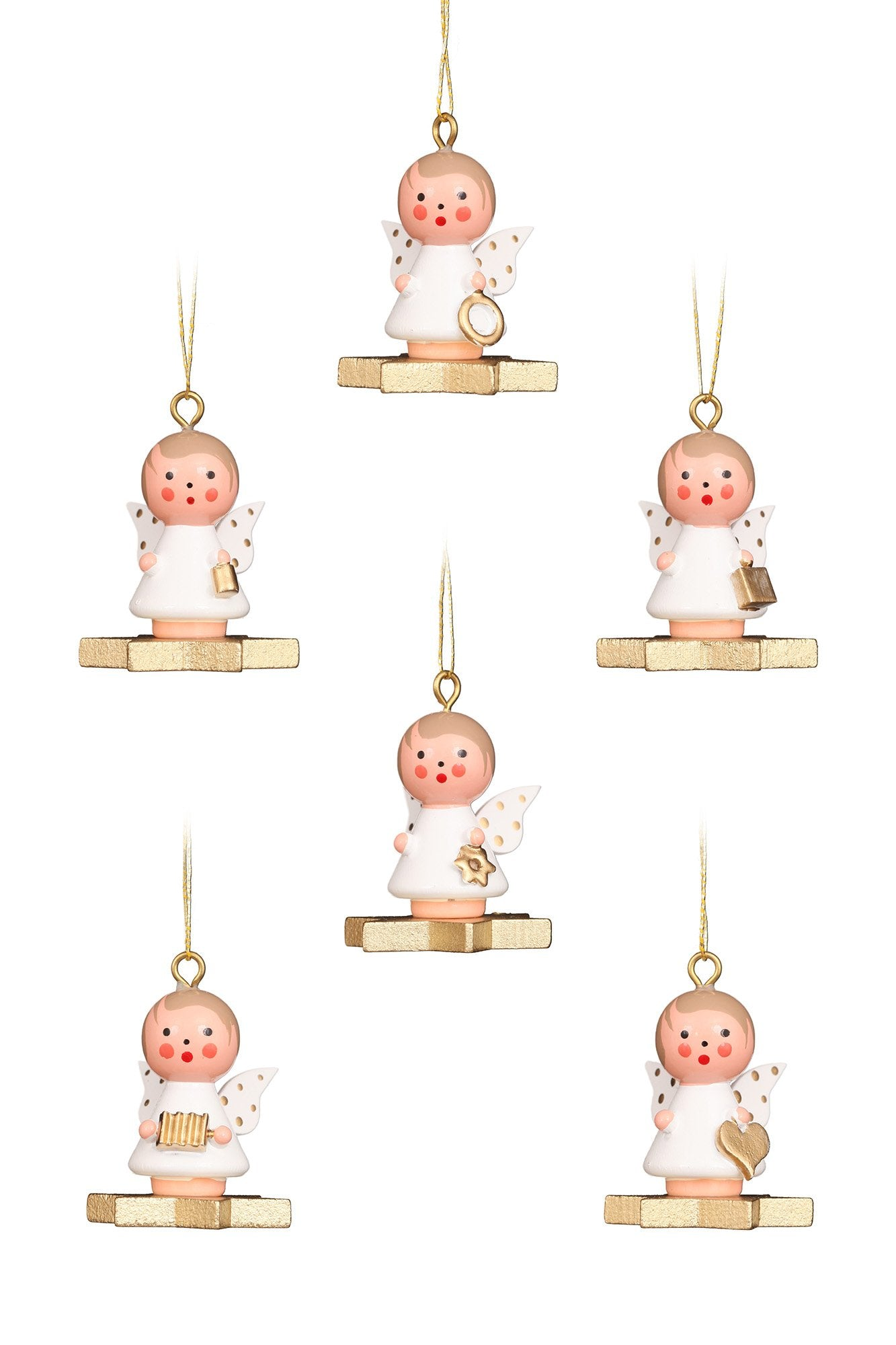 Mini angel - Floating on a star - Christmas tree decoration